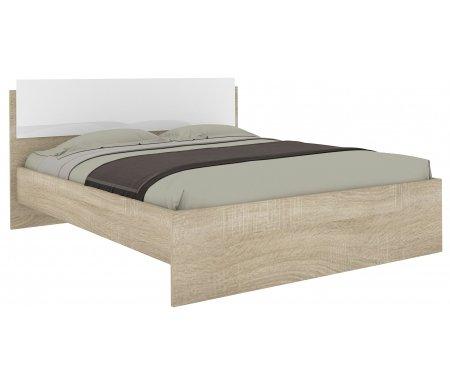 Купить Двуспальная кровать НК мебель, Амальтея с основанием 160х200 см дуб сонома / белый глянец