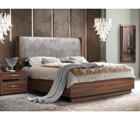 Двуспальная кровать Ярцево Челси ЧКР180-4[3] 180 х 200 см с ПМ орех каннеро фото