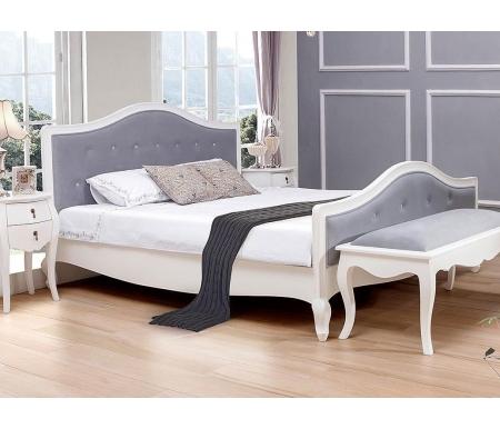 Купить Двуспальная кровать ESF, Ирена / PLC30 (160) белая, белый / серый