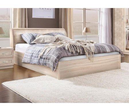 Купить Двуспальная кровать Диал, Кэт — 1 Snake арт.033 с ПМ 160х200 см ясень светлый / snake light