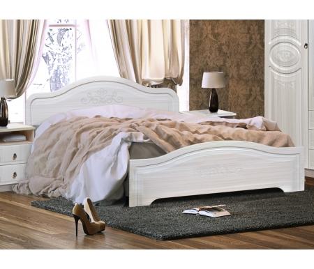 Купить Двуспальная кровать Диал, Кэт — 6 160х200 см с низким изножьем бодега / сандал белый