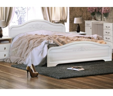 Купить Двуспальная кровать Диал, Кэт — 6 160х200 см с основанием бодега / сандал белый