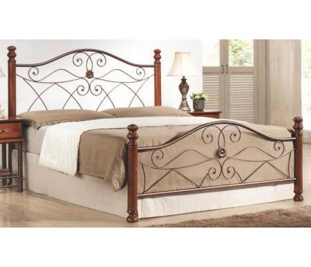 Кровать полутораспальная 1113-NS (160*200)Двуспальные кровати<br>В комплекте с металлической решеткой,без матраса.<br>