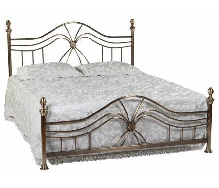Кровать полутораспальная 9315 L (SH) 160х200Двуспальные кровати<br>Кровать имеет низкое изножье. В комплекте с ортопедическим основанием (деревянные ламели). <br>    <br>    <br>Материал ножек: металл.<br>