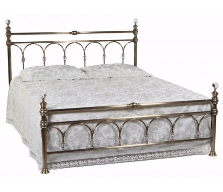 Кровать 9801 L с кристаллами (SH) 140 см x 200 смПолуторные кровати<br>В комплекте с ортопедическим основанием (деревянные ламели), без матраса. <br><br>  <br>    <br>    <br> <br>  Выбрать матрас<br> <br>  Матрас не входит в стоимость кровати, но унас вы можете приобрести ортопедический матрас подходящего размера.Доступен широкий ассортимент, посмотреть и выбрать можно в разделематрасов. При возникновении вопросов обращайтесь к нашим менеджерам.<br>