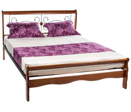 Кровать полутораспальная АТ-9077 L 160х200 с низким изножьем Мик