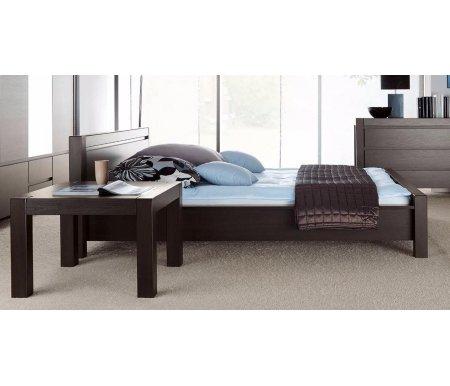 Кровать August (Август) S-83-LOZ 140 см x 200 см венгеПолуторные кровати<br>Материал ножек: ЛДСП.<br>