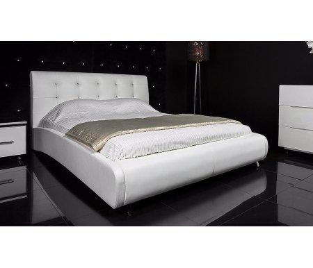 Кровать Corina 160 x 200 белаяДвуспальные кровати<br>В производстве кровати используется мягкая качественная искусственная кожа, по тактильным свойствам практически ничем не отличается от натуральной кожи.<br>