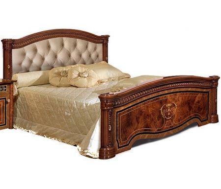 Двуспальная кровать Ярцево Карина-3 К3КР-3[3] 160 х 200 см с ПМ орех фото