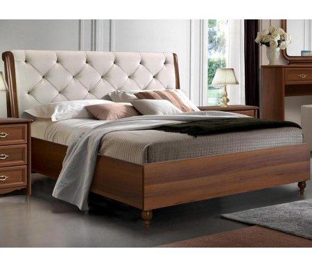 Двуспальная кровать Ярцево Венеция ВНКР-1 160 х 200 см экокожа марроне фото