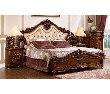 Кровать Джоконда 1208 180x200Двуспальные кровати<br>Царская кровать Джоконда роскошно украсит спальню. Декоративные элементы выполнены из полипропилена.Материал ножек: МДФ.<br>