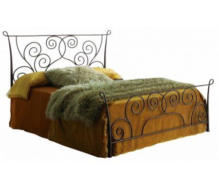Кровать Fantasy 511 160 см x 200 смДвуспальные кровати<br>Кровать изготовлена из трубчатых элементов с добавлением художественной ковки, выполнена в цвете состаренной бронзы.<br> <br>Кровать стоит на шести ножках.<br>