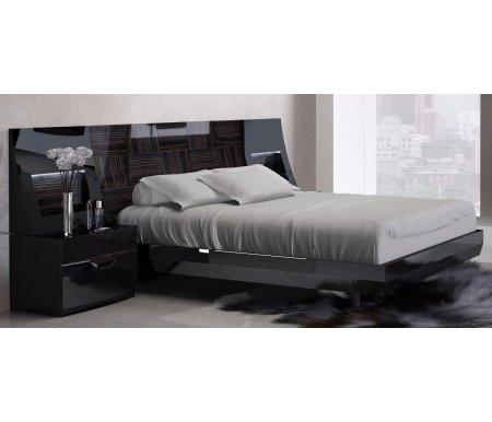Кровать Marbella 505 180x200Двуспальные кровати<br>Боковое изголовье кровати комплектуется светодиодной подсветкой. Кровать покрыта шпоном.<br>