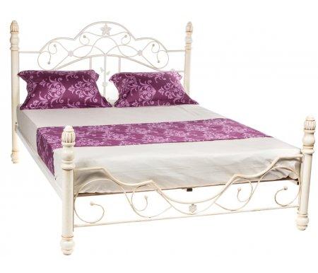 Кровать PS 8837 античный белыйДвуспальные кровати<br>Материал ножек: массив гевеи.<br>