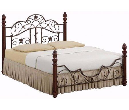 Кровать PS 8837 орех / античная бронзаДвуспальные кровати<br><br>