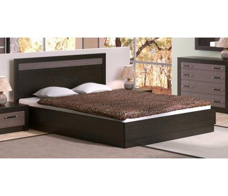 Кровать Токио с ПМ СМ-131.12.001 160x200 венге цаво / венге цаво / каналы дубаДвуспальные кровати<br><br>