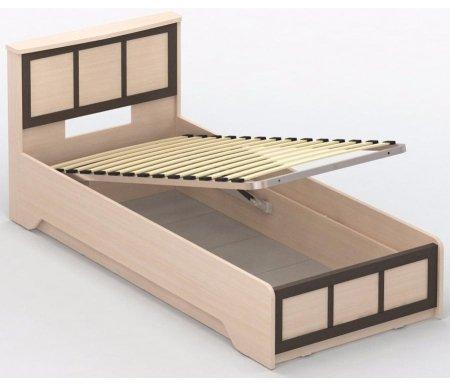 Кровать СОЛО 042 90 см x 200 см дуб молочный / венге / дуб молочныйОдноспальные кровати<br>Кровать СОЛО 042 односпальная имеет глубокий бельевой ящик и подъемный механизм. Модель СОЛО 042 выполнена из ламинированной ДСП - это экологичный и современный материал, который обеспечивает долговечность в использовании. Кровать поставляется в разобранном виде (7 упаковок).<br>