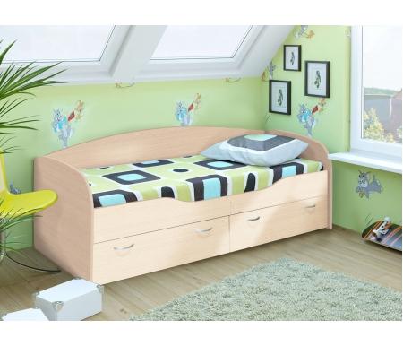 Купить Односпальная кровать Диал, Бриз 2 ЛДСП дуб белфорт