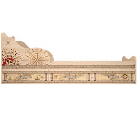 Купить Односпальная кровать Арника, Квест 5 90х190 см с ящиками дуб сонома светлый