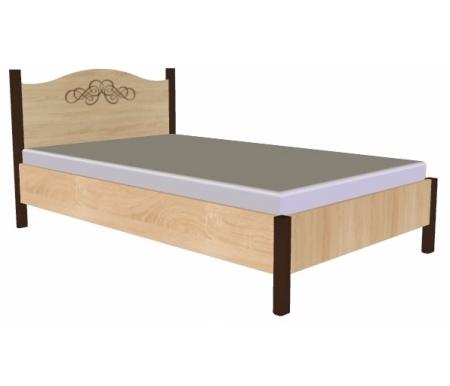 Кровать Адель (Adele) 120 см x 200 смПолуторные кровати<br>На изголовье имеется декоративный рисунок.<br><br><br>  Материал ножек: ЛДСП.<br>