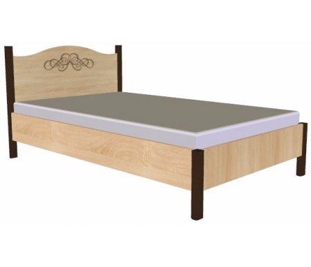 Кровать Адель (Adele) 140 см x 200 смПолуторные кровати<br>На изголовье имеется декоративный рисунок.<br><br><br>  Материал ножек: ЛДСП.<br>