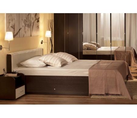 Купить Кровать Глазов, BERLIN 140 см х 200 см с подъемным механизмом венге, Россия