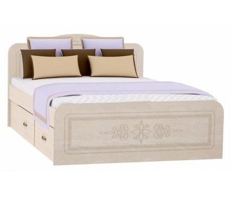 Кровать Фиеста-М КР-503 140 см х 200 см перламутровый глянецПолуторные кровати<br>Материал основания: фанерный настил.<br>