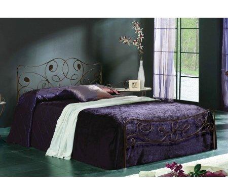 Кровать Olga 531 140 см x 200 см состаренная бронзаПолуторные кровати<br>Кровать стоит на шести ножках.Материал ножек: металл.<br>