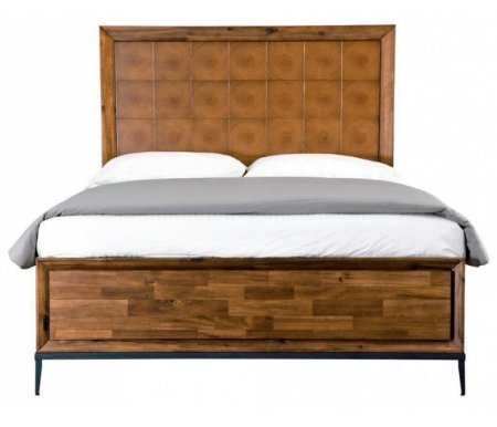 Кровать полутораспальная Emerson ЕМ-01Полуторные кровати<br>Комфортная кровать из американского тополя на тонких ножках. Рельефная текстура и поверхность фасада, имитирующая рисунок годичных колец дерева, придают этому изделию оригинальность. Эта необычная и красивая модель легко впишется в любой интерьер.<br>  <br>Материал ножек: массив тополя.<br>