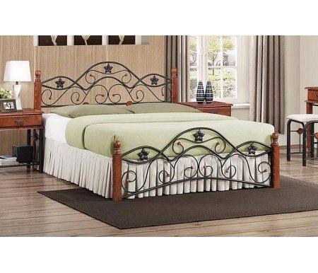Кровать PS 8834 новое основаниеДвуспальные кровати<br>Материал ножек: массив гевеи.<br>
