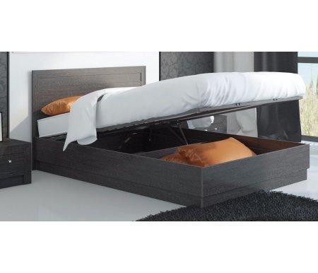 Кровать Токио с подъемным механизмом СМ-131.13.001 140 см x 200 см венге цаво / венге цаво / венге цавоПолуторные кровати<br>Максимальная нагрузка 180 кг.<br>