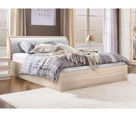 Купить Полутораспальная кровать Диал, Кэт — 1 Caiman арт.033 с ПМ 140х200 см ясень светлый / caiman белый