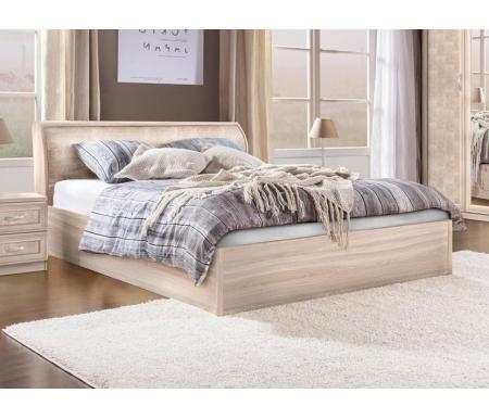 Купить Полутораспальная кровать Диал, Кэт — 1 Snake арт.033 с ПМ 140х200 см ясень светлый / snake light