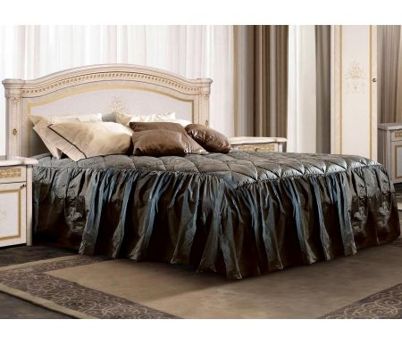 Кровать двуспальная Ярцево Карина-3 К3КР-2[3] 160 х 200 см с ПМ бежевый фото