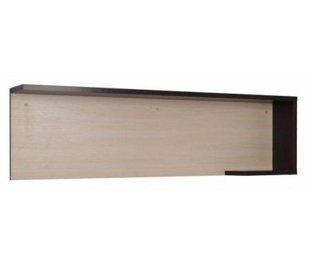 Полка Хилтон 5.2Полки<br><br><br>Ширина: 152,5 см<br>Глубина: 20 см<br>Высота: 42,5 см<br>Материал: ЛДСП, ПВХ кромка<br>Цвет: венге / дуб млечный<br>Объем: 0,039 куб. м<br>Вес: 14 кг