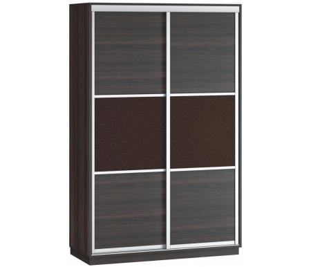 Купить Шкаф-купе Наша мебель, Денвер 120-Д11 венге / венге 3d кожа, Россия