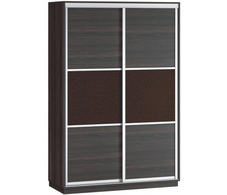 Купить Шкаф-купе Наша мебель, Денвер 140-Д11 венге / венге 3d кожа, Россия