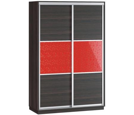 Купить Шкаф-купе Наша мебель, Денвер 140-Д13 венге / венге 3D листья, Россия