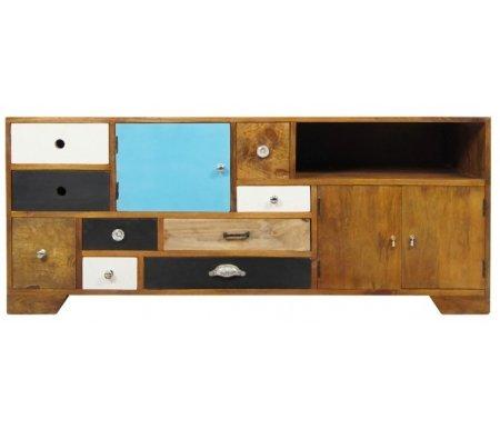 Комод Aquarelle (RE-16)Комоды<br>Комод Aquarelle (RE-16) сделан дизайнерами в стиле поп-арт.<br> <br>Функциональный и причудливый комод. Непременно займет достойное место в вашей квартире или загородном доме.<br><br>Ширина: 145 см<br>Глубина: 45 см<br>Высота: 60 см<br>Материал: дерево манго<br>Цвет: разноцветный