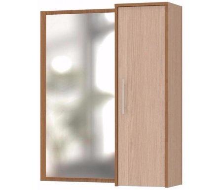 Полка с зеркалом ПЗ-4 ясень шимо темный / беленый дубШкафы<br>Шкаф изготовлен из ДСП толщиной 16 мм, покрытой ПВХ кромкой (толщина 0,4 мм). По желанию клиента зеркало может быть размещено слева или справа от шкафа (при сборке). <br> <br>  <br> <br> <br>Поставляется в разобранном виде. <br>  <br> <br>  <br> Возможные сочетания цвета корпуса и цвета фасада: <br>  <br> - венге / беленый дуб; <br>  <br> - испанский орех / испанский орех; <br>  <br> - ноче-экко / ноче-экко; <br>  <br> - ясень шимо темный / беленый дуб; <br>  <br> - беленый дуб / беленый дуб.<br>