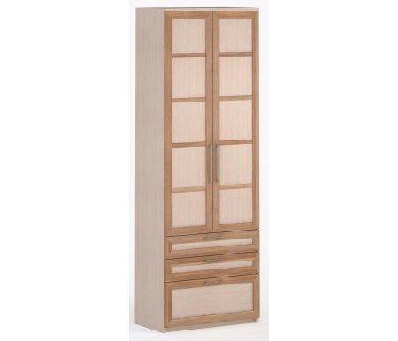 Шкаф 2-дверный с ящиками Соло-054 ДСП молочный дуб / слива / молочный дубШкафы<br><br>
