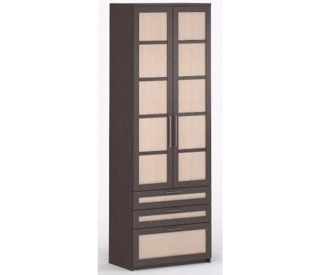 Шкаф 2-дверный с ящиками Соло-054 ДСП венге / венге / молочный дубШкафы<br><br>