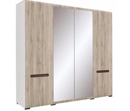 Шкаф AZTECA S205-SZF2D2L/21/22 белый / дуб санремоШкафы<br><br>