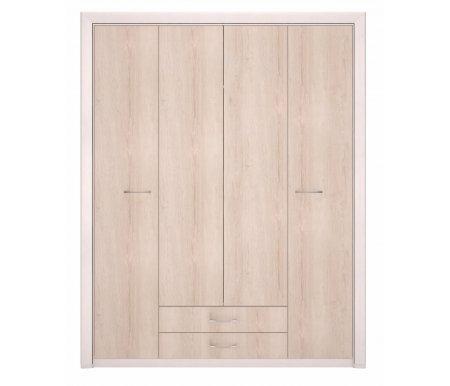 Здесь можно купить для одежды Мальта лиственница сибиу / дуб сакраменто без зеркала  Шкаф четырехдверный Арника Шкафы