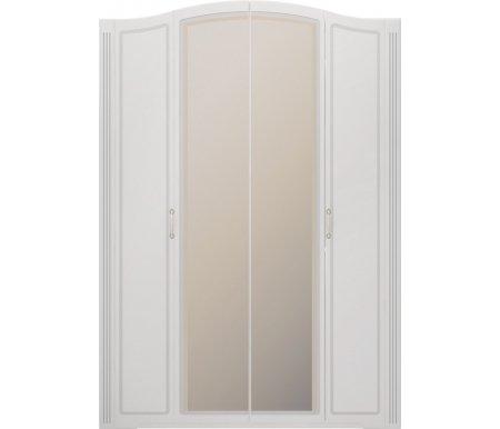 Шкаф четырехдверный для одежды Виктория 1 с зеркаломШкафы<br>Фасады изготовлены из МДФ, покрытого пленкой ПВХ, и имеют декоративную окантовку. Шкаф оснащен тремя штанги. <br>Есть возможность заказать комплект дополнительных полок.<br>