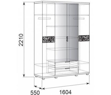 Шкаф четырехдверный Арника