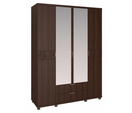 Шкаф четырехдверный Ирис 6 дуб тортонаШкафы<br>Шкаф имеет объемный рисунок на фасадах дверей и декорирован аккуратными ручками со стразами.<br>
