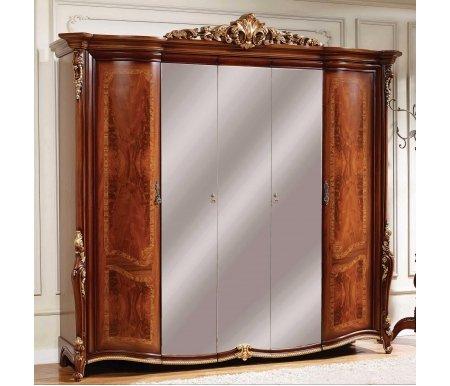 Шкаф Даниэлла AV-10 пятидверный орехШкафы<br>Роскошный шкаф послужит приятным дополнением для спальни.   <br> <br>  Декоративные элементы выполнены из полипропилена.<br>