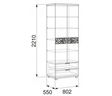 Шкаф двухдверный Арника