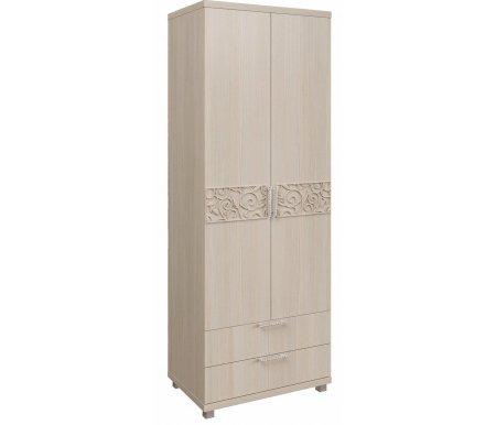 Шкаф двухдверный для белья Ирис 8 дуб бодегаШкафы<br>Шкаф декорирован аккуратными ручками со стразами и имеет объемный рисунок на фасаде дверей.<br>